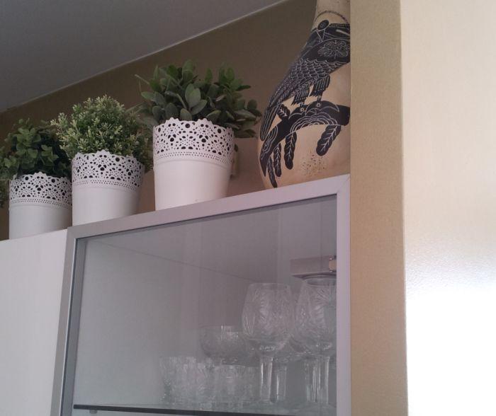 Złota ściana w kuchni