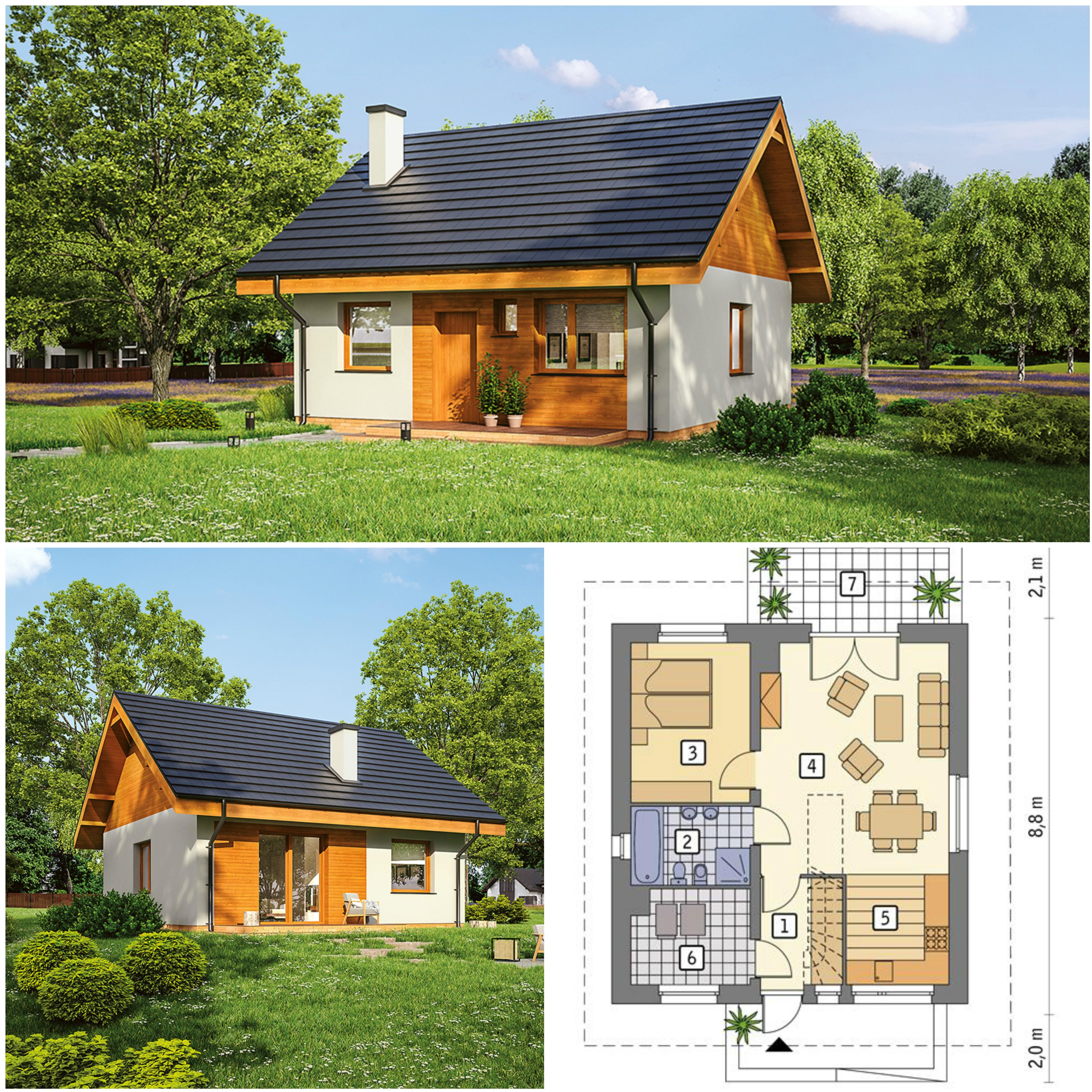 Projekt domu z poddaszem do adaptacji - Miarodajny