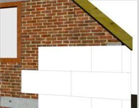 Ocieplenie budynku z krótkim okapem płytami z EPS