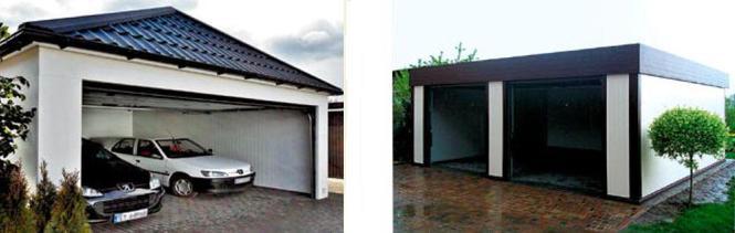 Garaże gotowe z płyt warstwowych