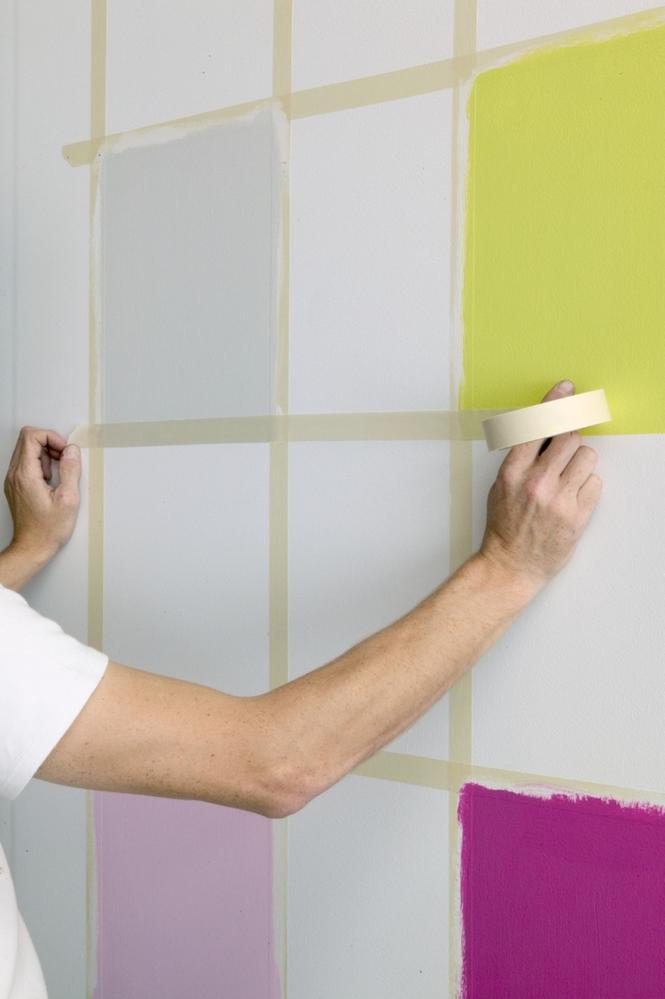 Dekoracyjne malowanie ścian: szachownica cz. 1