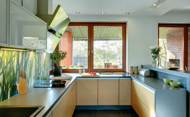 Galeria artykułu Palenisko w centrum uwagi Dom z   -> Kuchnia Otwarta Z Oknem