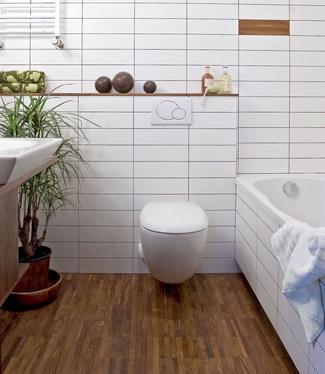 Podłoga egzotyczna w łazience