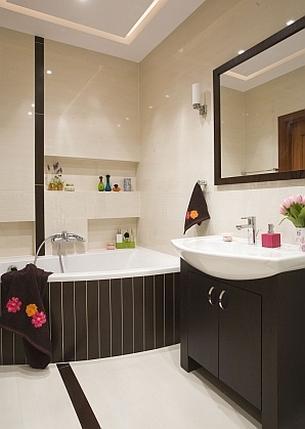 Oświetlenie łazienki - różne źródła światła