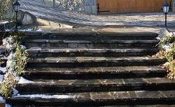 Betonowe schody w ogrodzie