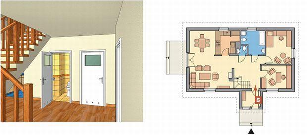 Na jakie pomieszczenie powinny się otwierać drzwi wejściowe?